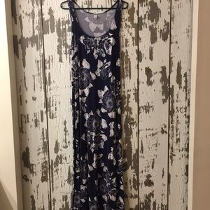 Old navy tank dress blue with white flowers